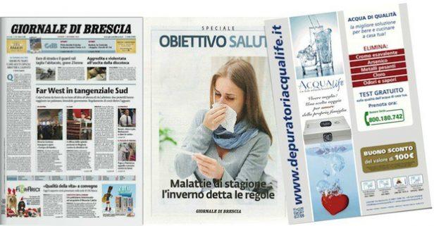 GiornaleDIBrescia-inserto-ObbiettivoSalute-depuratori-acqua-domestici