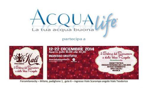 acqualife depuratori domestici partecipa - kali fiera benessere idea regalo 2014