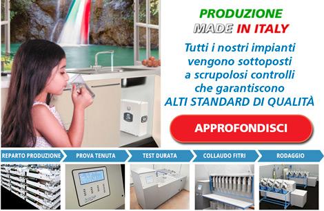 depuratori acqua uso domestico osmosi inversa acqualife controllo qualita link macchine