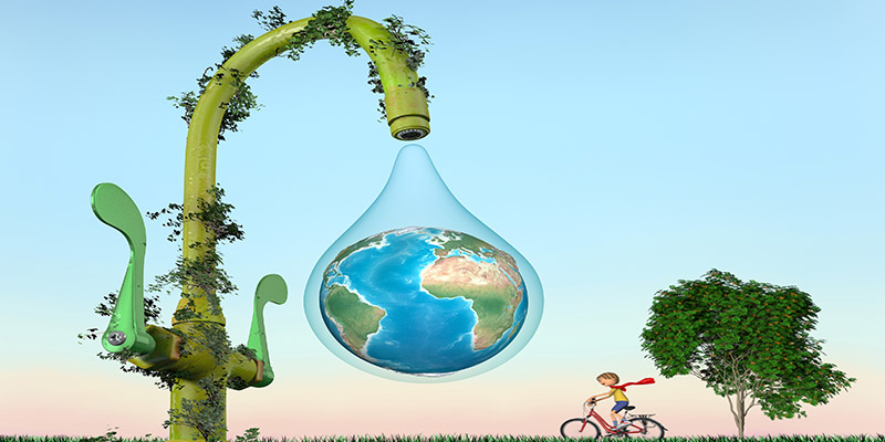 Per salvaguardare l'ambiente usa i depuratori d'acqua