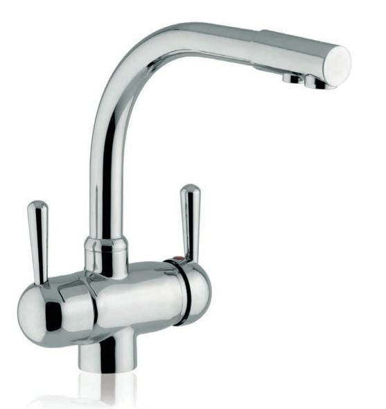 miscelatore monocomando per avere due rubinetti in uno