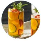 bevanda per perdere peso alla fragola, cetriolo e lime