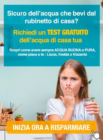offerta depuratore acqua domestico con test gratuito dell'acqua di casa