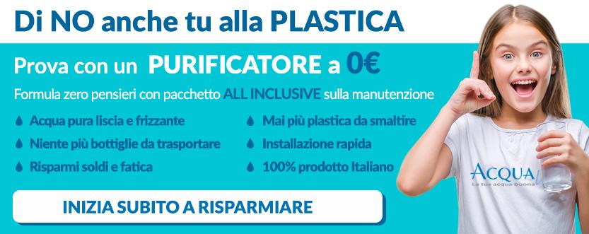 eliminare il consumo della plastica grazie a un purificatore a zero euro