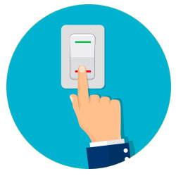 spegnere le luci di casa per risparmiare energia e inquinare meno