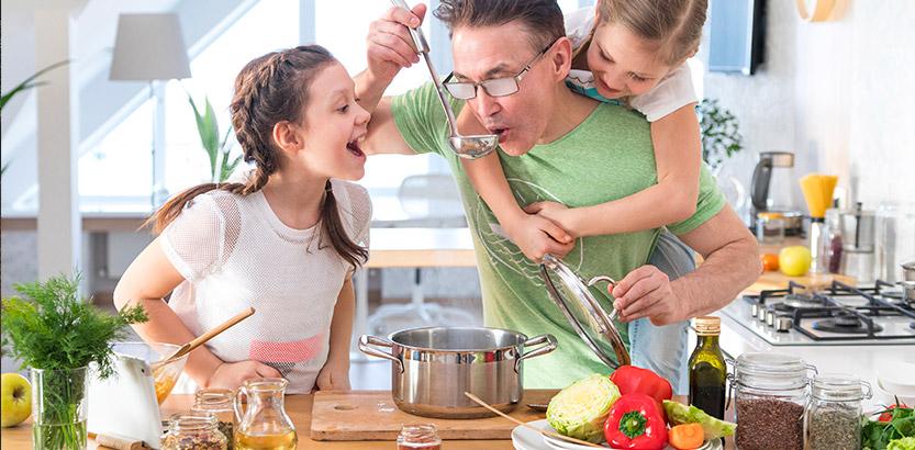 Preparazione del minestrone di verdure