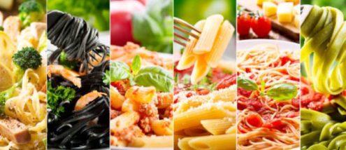 la pasta e le varianti dei condimenti