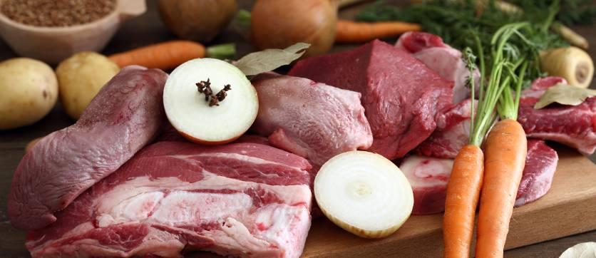 bollito di carne e ingredienti