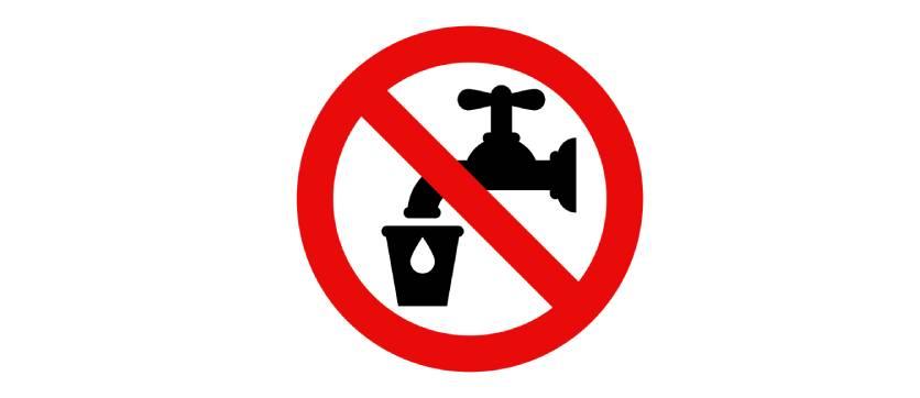 conoscere il cartello acqua non potabile