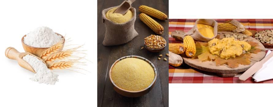 farine per la preparazione della polenta