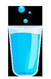 bicchiere acqua pura