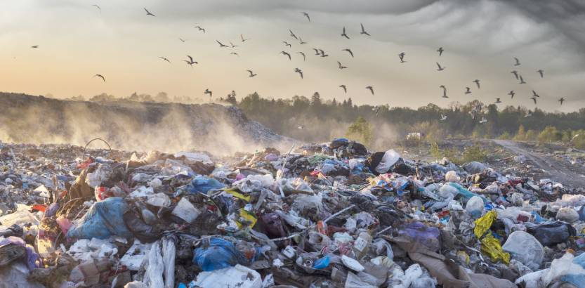 il pianeta e l'inquinamento dei rifiuti
