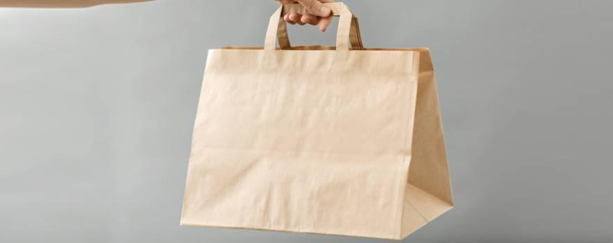 preferire i sacchetti di carta dalla plastica