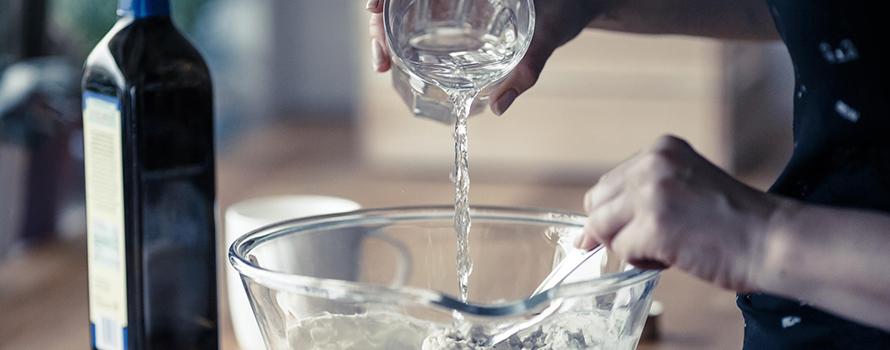 acqua e farina per un buon impasto