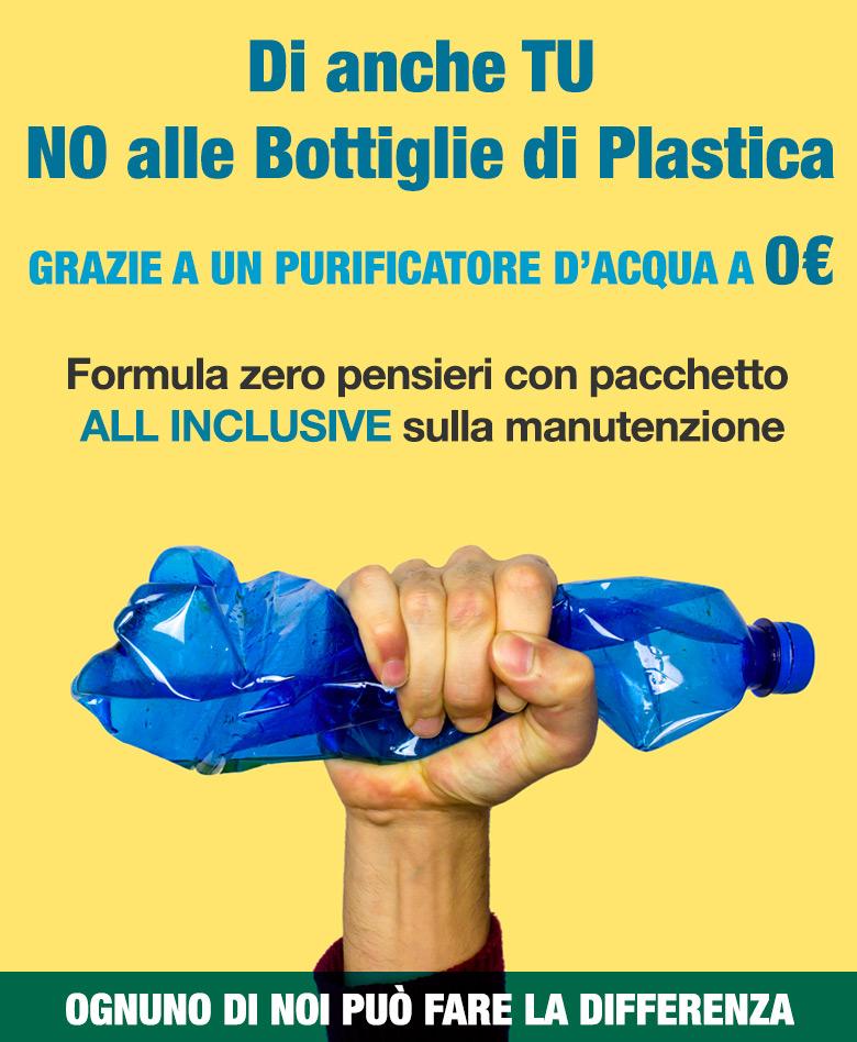 offerta depuratore acqua domestico per dire no alle bottiglie di plastica